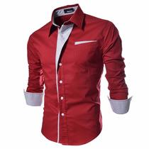 Camisetas Roupas Sociais Blusas Slim Fit