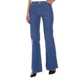 Lacoste Jeans Pantalon Tiro Alto Pata Elefante Retro Campana