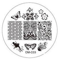 Placa Para Decoración De Uñas Con Sello Om-c03