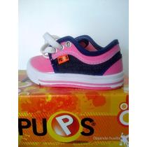 Zapatillas Bebe /niños Lona Pups T.21