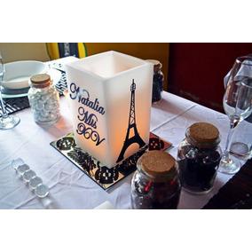Torre Eiffel Centro De Mesa Aluzza