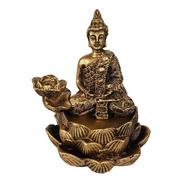 Incensario Cachoeira Buda Hindu Meditando Zen Cascata Resina