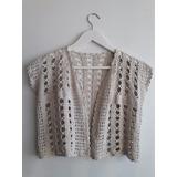 Torerita De Hilo Tejida Al Crochet Color Crudo Talle M