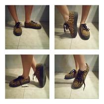 Remate Zapatos Estampados De Plataforma Para Dama