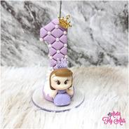 Vela Decorada Em Biscuit Aniversario Princesinha Sofia
