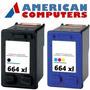 Combo Cartuchos Hp 664 Xl Negro Y Color Compatible Envio S/c
