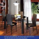 Muebles Juego De Comedor Pirlo Mesa Vidrio 4 Puestos Co Ch12