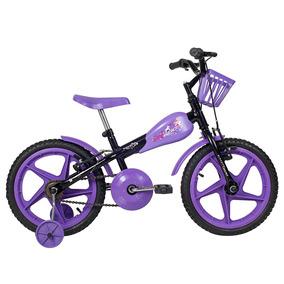 Bicicleta Vr 600 Aro 16 Preta Com Lilás - Verden Bikes
