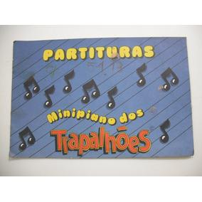 Livro Partituras Minipiano Dos Trapalhoes Antigo