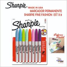 Marcador Permanente  Sharpie Fine Pastel  Est X 8  S/ 30.00