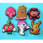 Moshi Monsters Jibbitz Pins Sandalias 4 X $175 + 2 De Regalo