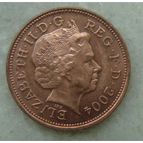 1702 Inglaterra 2004 Two Pence 26mm - Bronze Elizabeth