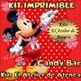 Kit Imprimible Candy Bar Golosinas Mickey Mouse Rojo Y Negro