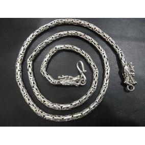 Cordão De Bali Ponto Peruano 60cm Em Prata 925 Frete-grátis
