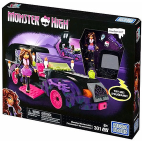 Set Monster High Mega Bloks Autocinema Clawdeen Wolf Armar
