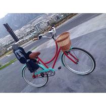 Bicicleta Retro-vintage Con Asiento Para Bebe