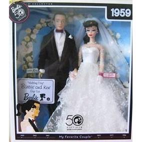 Bonecos Barbie E Ken Wedding 1959 Reprodutction Lacrado