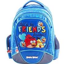 Mochila De Costas Angry Birds Juvenil Santino Azul Friends
