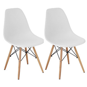 Cadeira Charles Eames Wood Design Kit 02pc Nf + Garantia Dsw