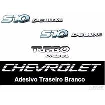 Emblemas S10 Deluxe + Turbo Diesel + Faixa Branca - 95 À 99