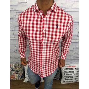 Camisa Social Masculina Slim Fit Xadrez Ralph Lauren Orig.