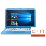 Hp Corriente 14-ax010nr Aqua Azul Notebook + Office 365 1 Añ