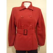 Abrigo Para Mujer Rojo Importado Grande