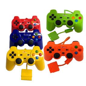 Kit C/ 10 Controle Playstation 2 C/ Fio Color Barato Revenda
