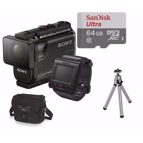 Filmadora Sony Hdr-as50r C/ Controle+64gb+bolsa+tripé Sj