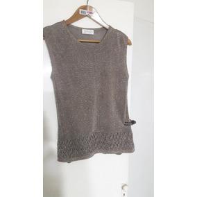 Sweater Mujer Hilo Sin Mangas De Vestir Marca Vicuñol T M 047156a8d61d