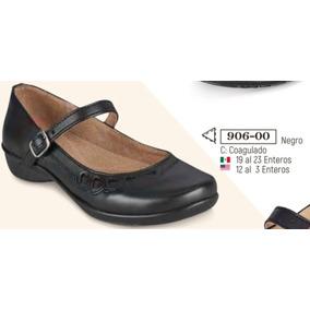 Zapato Escolar Negro Para Niña 906-00 Cklass