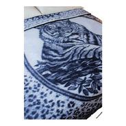 Cobertor King Size Tipo San Marcos Azulmarino Tigre Acostado