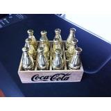 Mini Caixa Coca-cola Com Garrifinhas Em Bronze