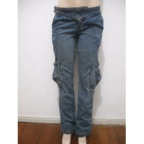 Calça Jeans Iodice Tam 36 Com Bolsos Pernas Usado Bom Estado