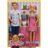 Barbie Y Ken En El Café- Set 2 Muñecas- Mattel -envío Gratis