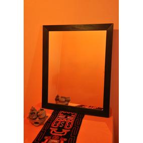 Espejo Con Marco De Madera 120x80 Cm Listo Para Colgar!!