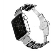 Malla Acero Inoxidable 316l Con Ceramica Apple Watch 38-42mm