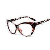 Óculos Feminino Armação Oncinha Cat Eyes Barato