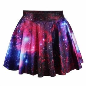 Saia Galaxia Tumblr Espaco Universo 3d Estrelas Moda Verao