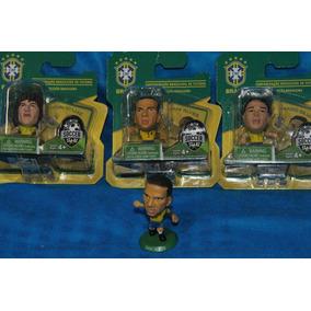 Kit Com 3 Minicraques David Luiz, Dani Alves E Thiago Silva
