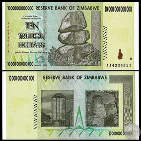 Zimbábue 10 Trilhões Dollars 2008 P-88 Fe Zimbabwe
