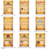Arquivo De Corte Silhouette- Kit Convites Pergaminhos