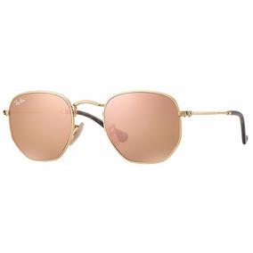 e109ee90983ca Ray Ban Hexagonal Rose - Óculos De Sol Ray-Ban no Mercado Livre Brasil