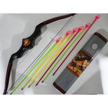 Kit Arco E Flecha E Porta Flechas Brinquedo Monte Sua Tribo