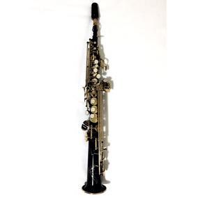 Saxofone Soprano Reto Sib Preto Halk (novo) Frete Gratis