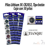 Pilas Li 3v, Cr2032, Caja Con 50 Pilas