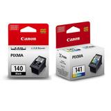 Set Cartucho Canon Pg-140 Negro + Cl-141 Color