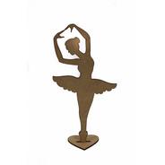 20pçs Bailarina 30cm Decoração Festas Centro De Mesa Mdf Cru