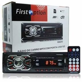 Mp3 Player Som Carro Usb Aux Cartão Sd Rádio Fm Automotivo