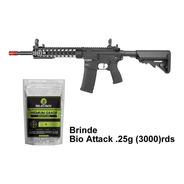 Rifle Airsoft Ar15 Neptune Keymod 10 + Bio Attack .25g + Nf